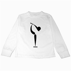 Artistic Roller Skating Pictogram Kids Long Sleeve T-Shirts by abbeyz71