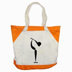 Artistic Roller Skating Pictogram Accent Tote Bag by abbeyz71