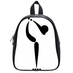 Artistic Roller Skating Pictogram School Bags (small)  by abbeyz71