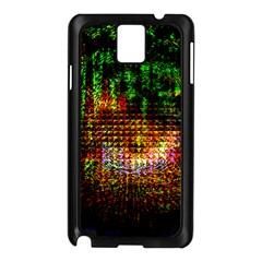 Radar Kaleidoscope Pattern Samsung Galaxy Note 3 N9005 Case (black)