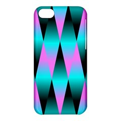Shiny Decorative Geometric Aqua Apple Iphone 5c Hardshell Case by Amaryn4rt