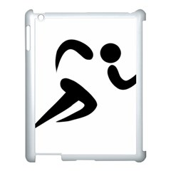 Athletics Pictogram Apple Ipad 3/4 Case (white) by abbeyz71
