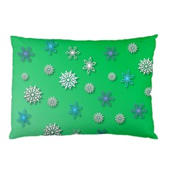 Snowflakes Winter Christmas Overlay Pillow Case by Amaryn4rt