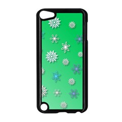 Snowflakes Winter Christmas Overlay Apple Ipod Touch 5 Case (black) by Amaryn4rt