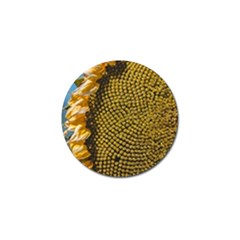 Sunflower Bright Close Up Color Disk Florets Golf Ball Marker by Amaryn4rt