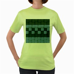 Texture Structure Surface Basket Women s Green T Shirt