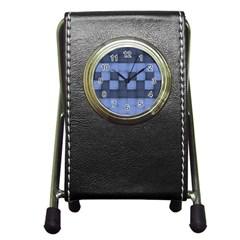 Texture Structure Surface Basket Pen Holder Desk Clocks