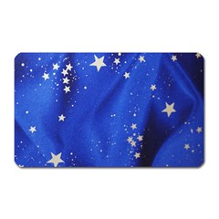 The Substance Blue Fabric Stars Magnet (rectangular) by Amaryn4rt