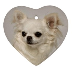 Chihuahua Heart Ornament (Two Sides) by TailWags