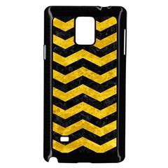 CHV3 BK-YL MARBLE Samsung Galaxy Note 4 Case (Black) by trendistuff