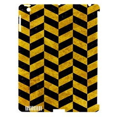 Chevron1 Black Marble & Yellow Marble Apple Ipad 3/4 Hardshell Case (compatible With Smart Cover) by trendistuff