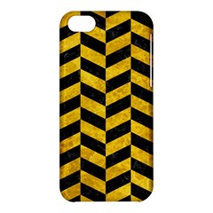 Chevron1 Black Marble & Yellow Marble Apple Iphone 5c Hardshell Case by trendistuff