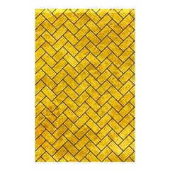 Brick2 Black Marble & Yellow Marble (r) Shower Curtain 48  X 72  (small) by trendistuff