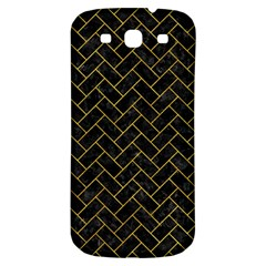 Brick2 Black Marble & Yellow Marble Samsung Galaxy S3 S Iii Classic Hardshell Back Case by trendistuff