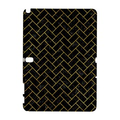 Brick2 Black Marble & Yellow Marble Samsung Galaxy Note 10 1 (p600) Hardshell Case by trendistuff