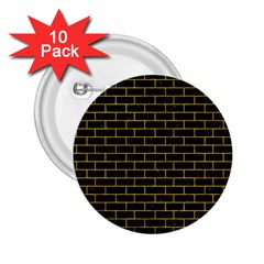 Brick1 Black Marble & Yellow Marble 2 25  Button (10 Pack) by trendistuff