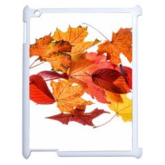 Autumn Leaves Leaf Transparent Apple Ipad 2 Case (white) by Amaryn4rt