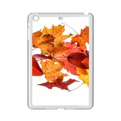 Autumn Leaves Leaf Transparent Ipad Mini 2 Enamel Coated Cases by Amaryn4rt