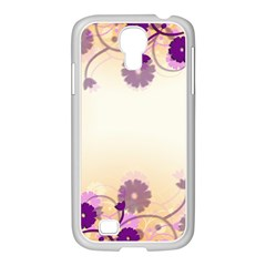 Background Floral Background Samsung Galaxy S4 I9500/ I9505 Case (white) by Amaryn4rt