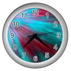Background Texture Pattern Design Wall Clocks (silver)  by Amaryn4rt