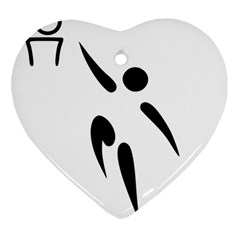Aéroball Pictogram Heart Ornament (two Sides) by abbeyz71