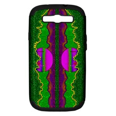 Magic Moon Landscape Samsung Galaxy S Iii Hardshell Case (pc+silicone) by pepitasart