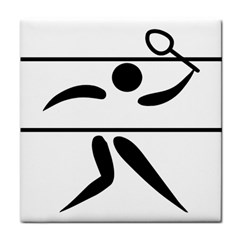 Badminton Pictogram Face Towel by abbeyz71
