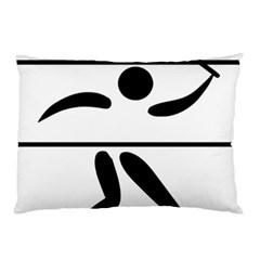 Badminton Pictogram Pillow Case (two Sides) by abbeyz71