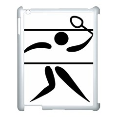 Badminton Pictogram Apple Ipad 3/4 Case (white) by abbeyz71
