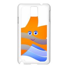 Beach Sea Sea Shell Swimming Samsung Galaxy Note 3 N9005 Case (white)