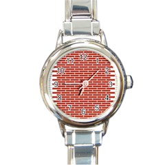 Brick Lake Dusia Texture Round Italian Charm Watch