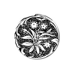 Decoration Pattern Design Flower Magnet 3  (round) by Amaryn4rt
