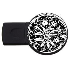 Decoration Pattern Design Flower USB Flash Drive Round (2 GB) by Amaryn4rt