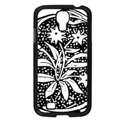 Decoration Pattern Design Flower Samsung Galaxy S4 I9500/ I9505 Case (black) by Amaryn4rt
