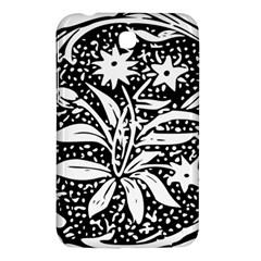 Decoration Pattern Design Flower Samsung Galaxy Tab 3 (7 ) P3200 Hardshell Case