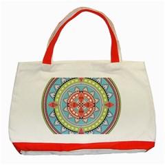 Drawing Mandala Art Classic Tote Bag (red) by Amaryn4rt