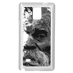 Grandfather Old Man Brush Design Samsung Galaxy Note 4 Case (white) by Amaryn4rt