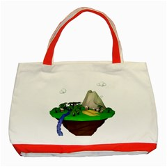 Low Poly 3d Render Polygon Classic Tote Bag (red)