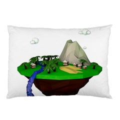 Low Poly 3d Render Polygon Pillow Case by Amaryn4rt