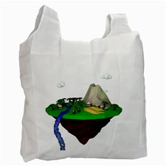 Low Poly 3d Render Polygon Recycle Bag (one Side) by Amaryn4rt