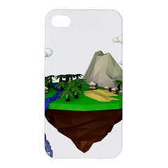 Low Poly 3d Render Polygon Apple Iphone 4/4s Hardshell Case by Amaryn4rt