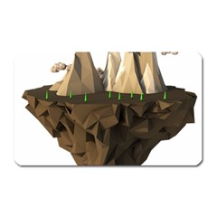 Low Poly Floating Island 3d Render Magnet (rectangular) by Amaryn4rt