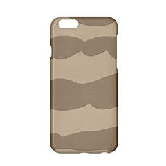 Pattern Wave Beige Brown Apple Iphone 6/6s Hardshell Case by Amaryn4rt