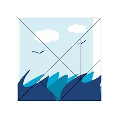 Sea Acrylic Tangram Puzzle (4  X 4 ) by Amaryn4rt