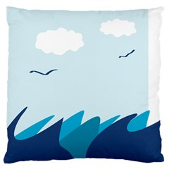 Sea Standard Flano Cushion Case (two Sides) by Amaryn4rt