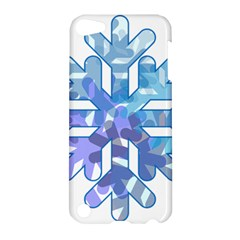 Snowflake Blue Snow Snowfall Apple Ipod Touch 5 Hardshell Case by Amaryn4rt
