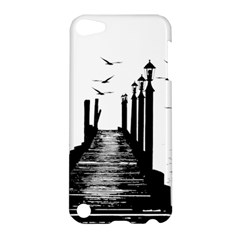 The Pier The Seagulls Sea Graphics Apple iPod Touch 5 Hardshell Case by Amaryn4rt
