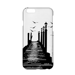 The Pier The Seagulls Sea Graphics Apple Iphone 6/6s Hardshell Case by Amaryn4rt
