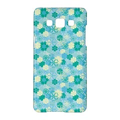 Blue Floral Flower Samsung Galaxy A5 Hardshell Case  by Jojostore