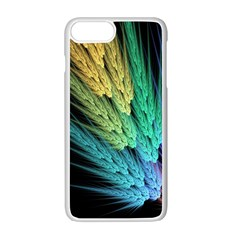Abstract Fractal Apple iPhone 7 Plus White Seamless Case by Jojostore